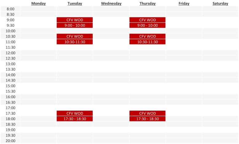 schedule summer 2017